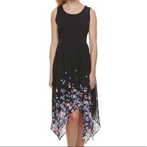 EUC ELLE sleeveless black floral dress